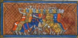 Bouvines Battle scene BL Royal 16 G Vi f.379